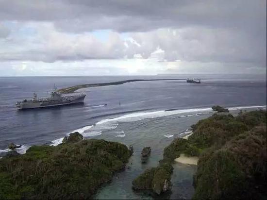 ▲美军在关岛的军事基地 资料图