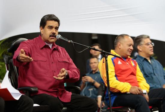 委内瑞拉总统马杜罗(左)。(新华社发)