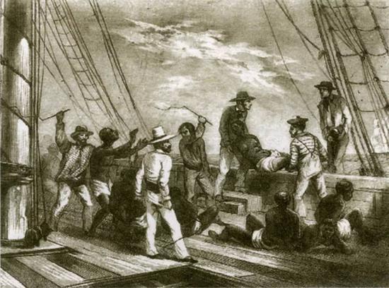 △资料 美国历史上的黑人奴隶贸易