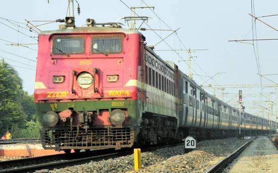 印度火车示意图。(图片来源:今日印度网站)