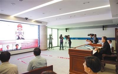 昨日,杭州互联网法院审理一件触及损害作品信息网络流传权之纠纷案件。新华社记者 翁忻旸 摄
