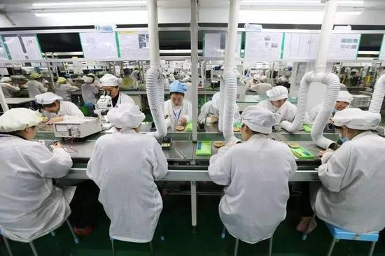 中国手机组件制造