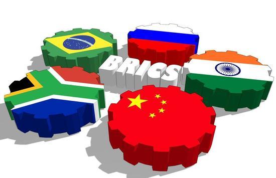"""五个金砖国家是发展中国家的""""领头羊"""",亚洲两国、美洲一国、欧洲一国、非洲一国。"""