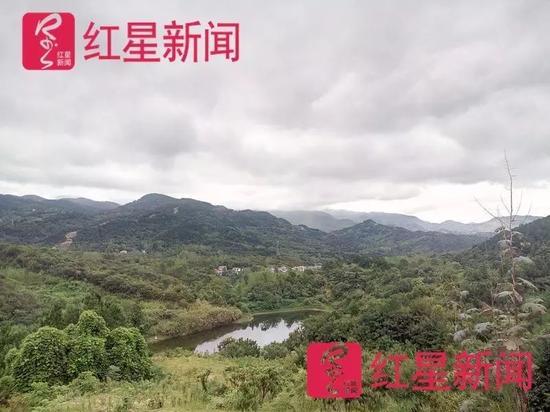 """▲30余户""""城里人""""分散在汉子山村内。"""