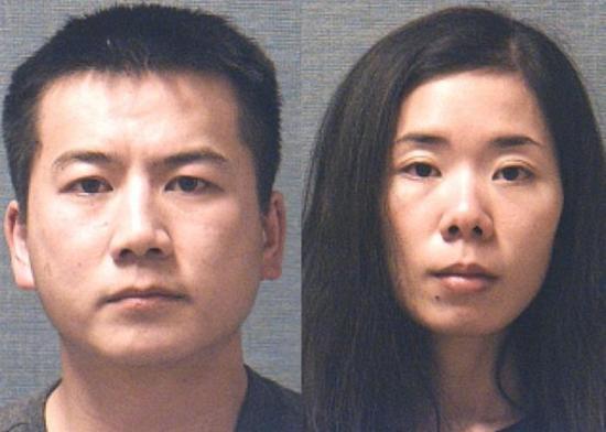 赵亮(左)将指证妻子陈明明(右)