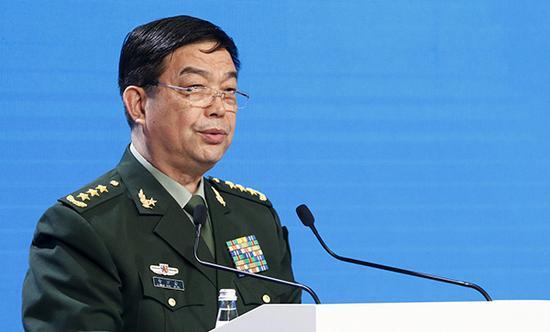 国务委员兼国防部长常万全。视觉中国 材料图