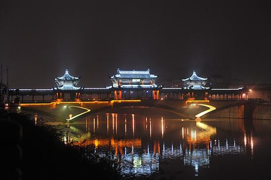临安苕溪廊桥。视觉中国 资料图
