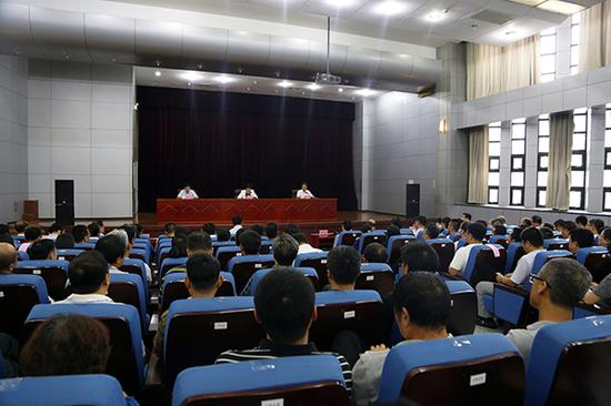 大会现场。 本文图片均来自河北工业大学旧事网