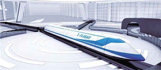 """""""高速航行列车""""效果图。 图片泉源于上游新闻"""