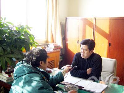 2005年,孟耀武接受记者的采访