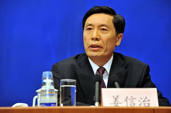 地方组织部副部长姜信治。视觉中国 材料