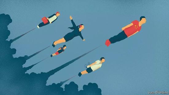 ▲中国新一代企业家敢想敢干,具有才气和全球头脑。(英国《经济学人口》)