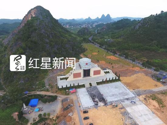 ▲还在修建中的酒海井红军纪念园全景 图片泉源:红星新闻