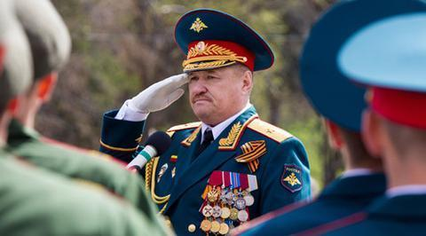 在叙遭袭身亡的俄罗斯将军阿萨波夫(图源:Sputnik)