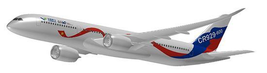 中俄国际商用飞机有限责任公司logo和涂装效果图