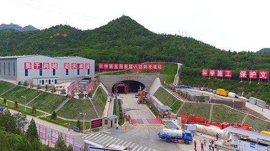 京张高铁八达岭隧道施工现场。