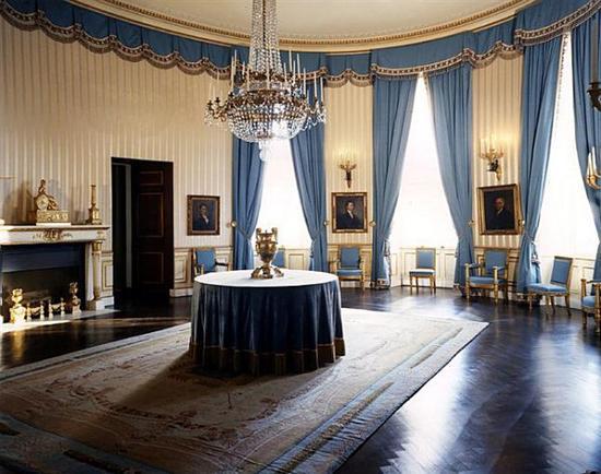 肯尼迪时期,The Blue Room翻修前后对比