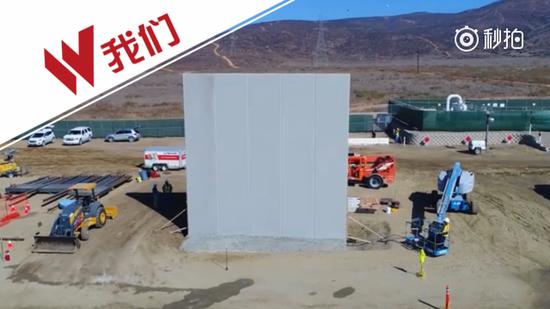 """美墨边境""""样板墙""""开工建设 已竖起8段"""