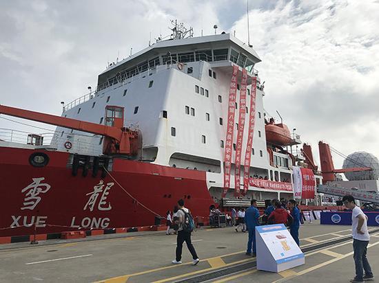 10月10日,中国第8次北极科学考察队圆满完成考察任务,顺利返回上海。本文图片均来自 澎湃新闻记者 江海啸 摄