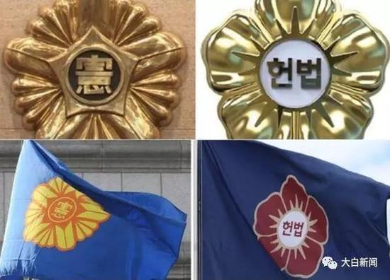韩国宪法法院新旧徽章对比