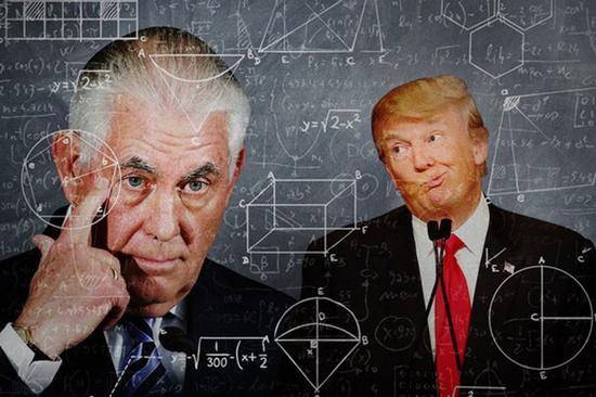 《华盛顿邮报》指出,特朗普向蒂勒森提出的智商比试挑战,是两人间信任出现破裂的又一例证。