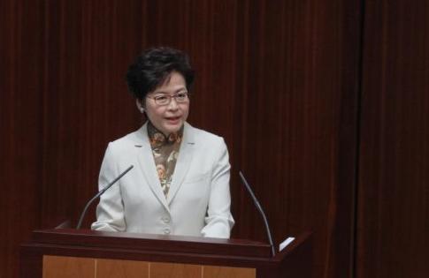 """林郑月娥:向任何冲击国家主权的行为说""""不"""""""