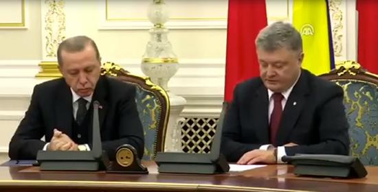 土耳其总统在与乌克兰总统召开记者会时打瞌睡
