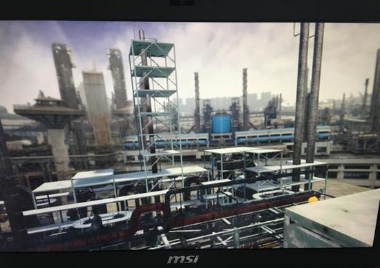 华东理工为学生开VR实训体验课,图翻拍自演示画面。