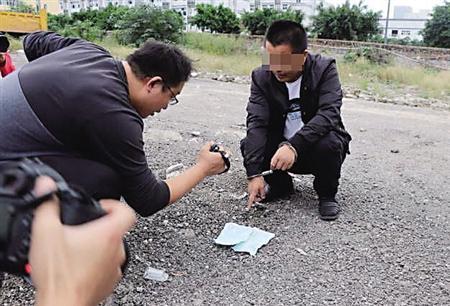 货车司机杨某指认证据