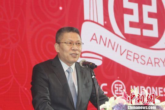 中国驻印尼大使馆经商处公参王立平到场祝贺。 林永传 摄