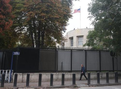 资料图:美国驻安卡拉大使馆(图片来源:法新社)