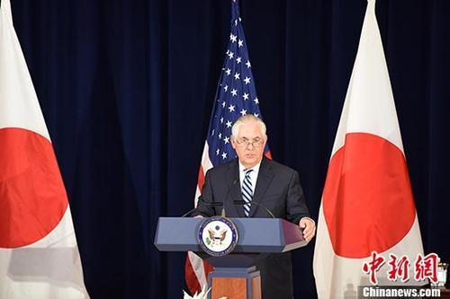 质料图:美国国务卿蒂勒森。 中新社记者 邓敏 摄