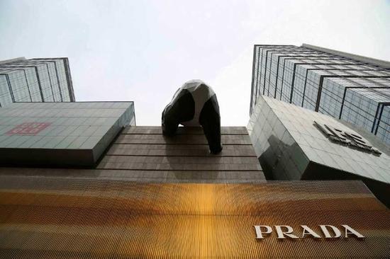 ▲成都IFS楼体上的大熊猫