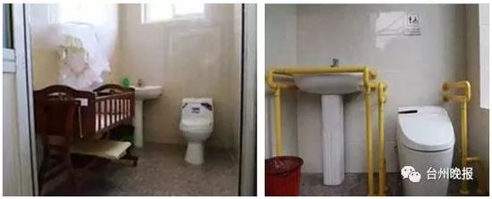 路桥世纪广场的公厕已经安装了智能马桶,专供孕妇、残疾人、老年人使用。