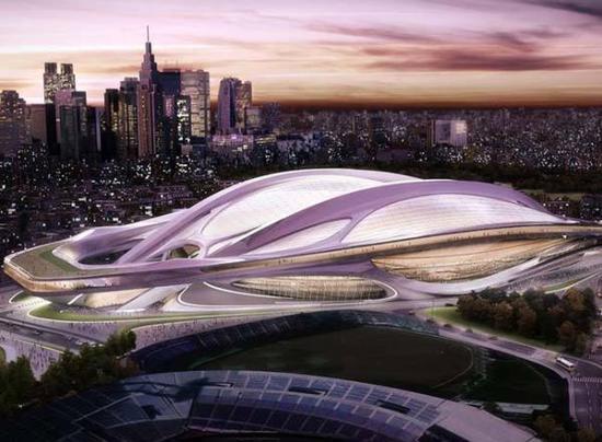 东京奥运主场馆概念图。