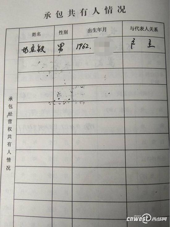 尤应银的农村土地承包证上显示其是1962年出生的