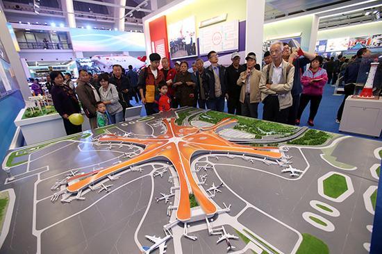 北京新机场模型。视觉中国 图