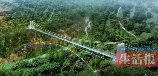 龙门水都玻璃吊桥。南宁市旅游生长委员会官方微信 图