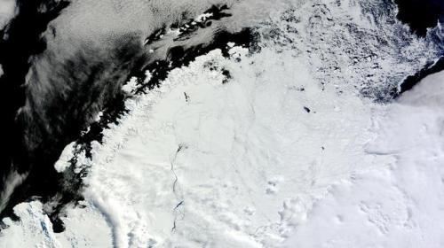 南极威德尔海。(图片来源:NASA)