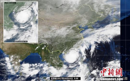 """广东省气象台关于台风""""卡努""""的立体云图 广东气象台供图"""