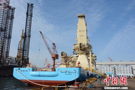 该船舶作业深度可达3000米。 杨毅 摄