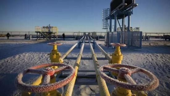 ▲位于俄罗斯北部亚马尔半岛的液化自然气项目(彭博社)