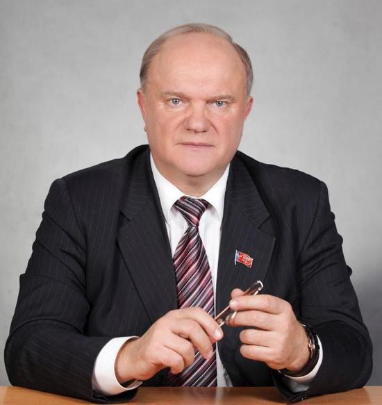 ▲俄罗斯共产党中央主席久加诺夫