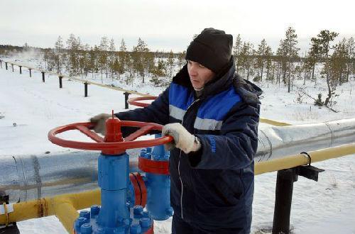 俄罗斯天然气工业股份公司位于西伯利亚地区的天然气田。新华社发