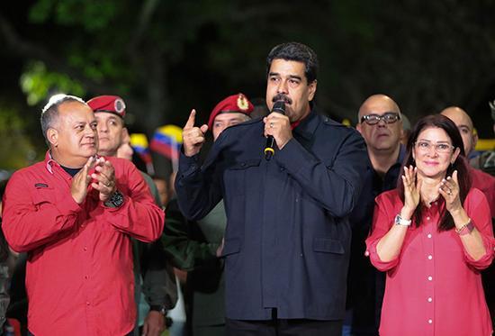 委内瑞拉总统马杜罗的执政党在此次地方选举中获得压倒性胜利。视觉中国 图