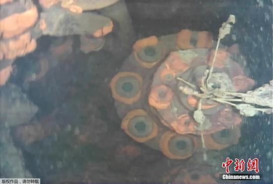 资料图:福岛第一核电站3号机组内的具体状况。(视频截图)