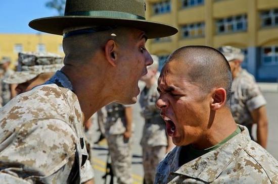 资料图:美军新兵训练营。