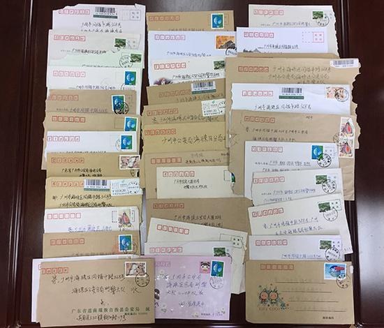 孩子们写给海珠刑警大队的信