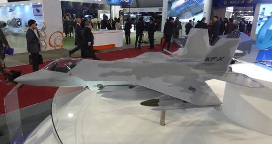 2017年首尔航展上展出的KF-X战机模型