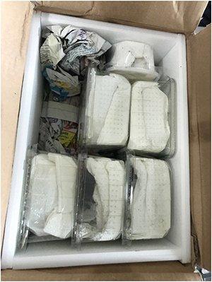 邮寄物包装。北京国检局供图